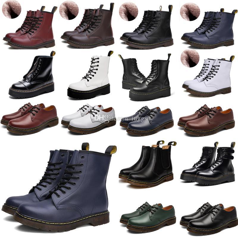 2021 designer 1460 ankle 1461 platform 2976 zip detail men mens women womens fur snow martin fox martins boot desert boots a2pc#