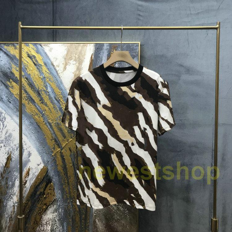 2021 Новая летняя Европа дизайнерский бренд мужская полосатая футболка высочайшее качество футболки мода футболка свободно негабаритных женщин повседневная тройник