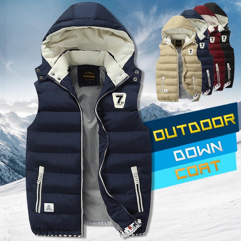 Inverno para baixo vestido homens casual colete masculino jaqueta sem mangas plus tamanho 5xl quente homens vestido de veste 201120