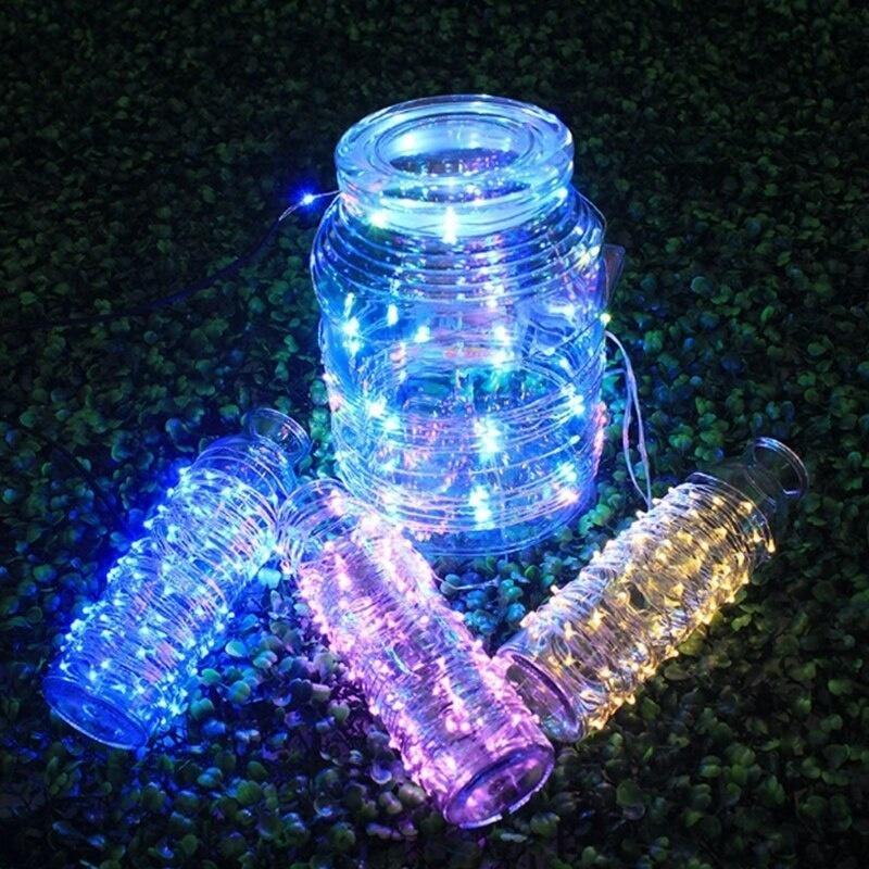 Пульт дистанционного управления джинн лампа венок, 16 цветов, USB, 5V, 5 м / 10 м, внешний свет Рождества, свадьба украшение