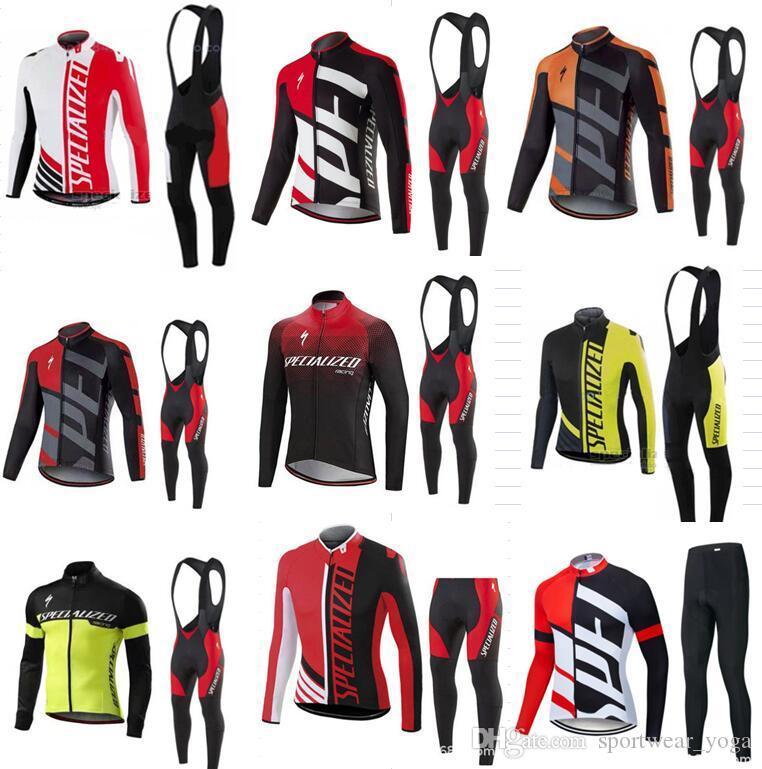 Los nuevos Mens ciclismo Jersey Pro Team Tour de Francia establece secado rápido chándal ajustado traje de manga larga ropa de ciclo camino de la bicicleta de deporte Deportes
