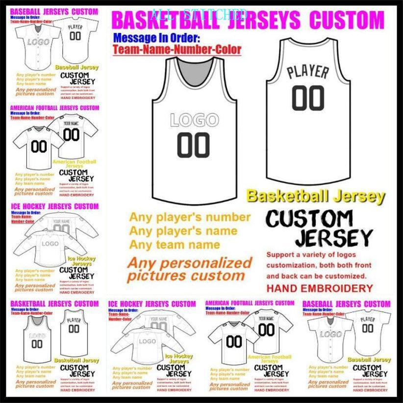 Özel Basketbol Beyzbol Buz Hokeyi Erkekler Kadınlar Çocuklar Amerikan Futbol Formaları Spor Üniformaları Resmi 2021 Jersey Sipariş 4XL 5XL 6XL