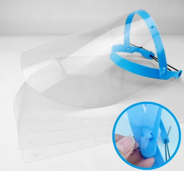 Heures de protection des navires 24 Masque Anti Splash pleine Sheild poussière Saliva capot transparent tête-monté amovible Isolation écran facial