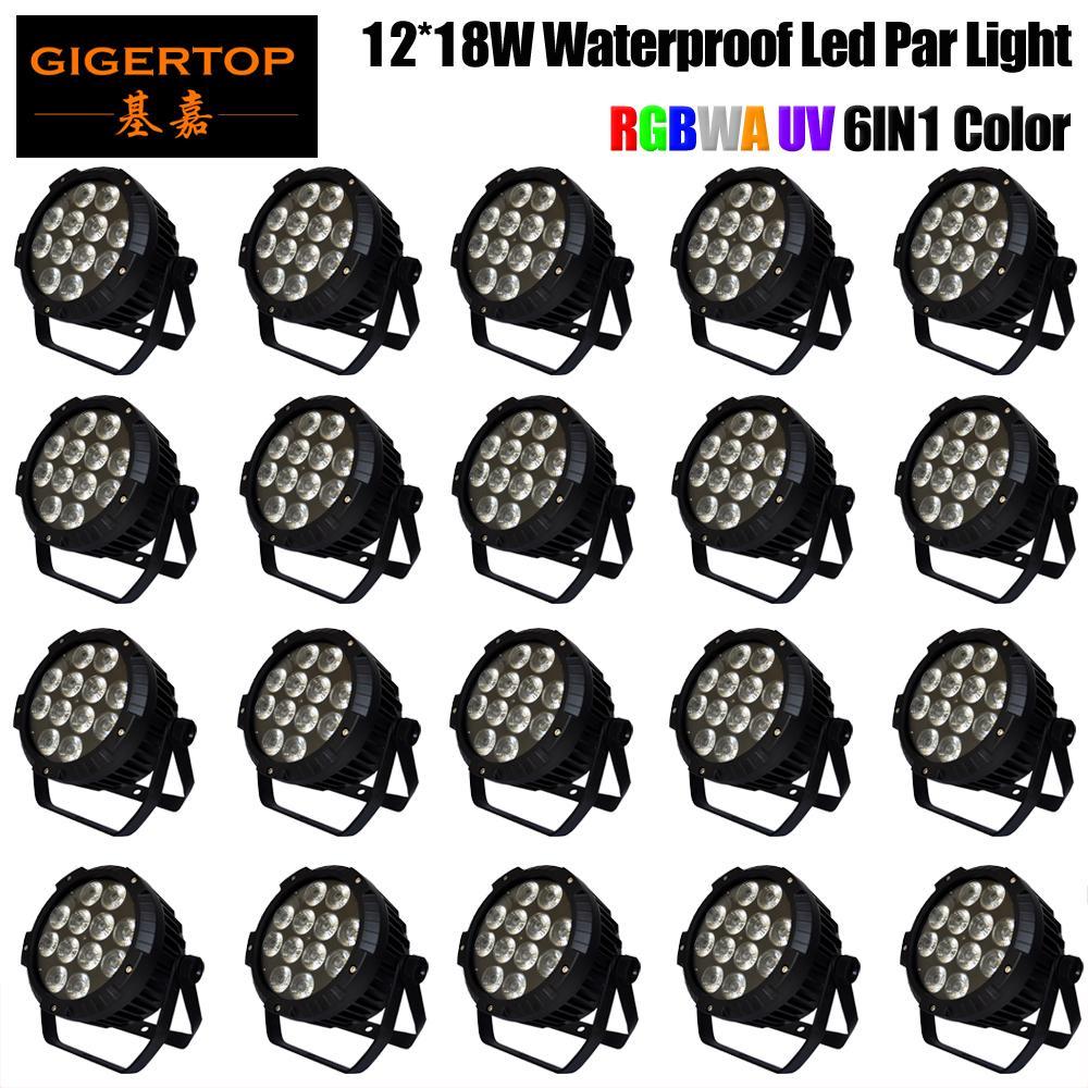 TIPTOP 20 unidades 12x18w impermeável LED plana Light Par Professional Dj Iluminação Cénica IP65