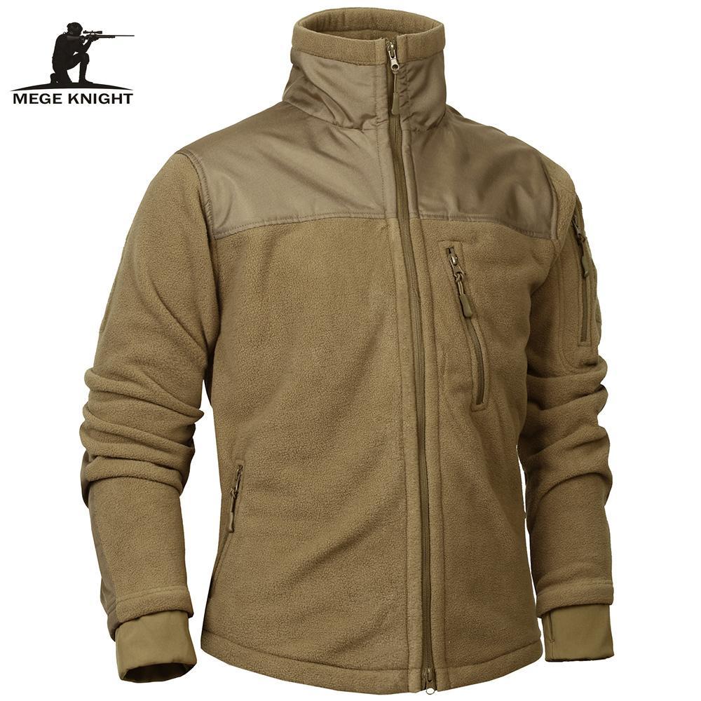Mege Brand Tactical Abbigliamento Abbigliamento Militare Fleece Autunno Inverno Giacca da uomo Esercito Polar Caldo Cappotto Maschile Outwear Jaquetas Masculino 201127