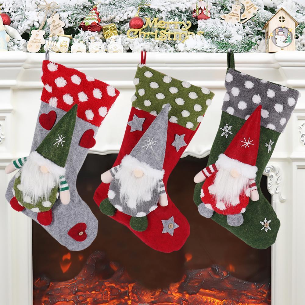 HUIRAN Christmas Candy Geschenk-Taschen Frohe Weihnachten Dekor für Haus Navidad 2020 Noel Dekor Weihnachten Geschenk für Kinder Weihnachtsverzierungen