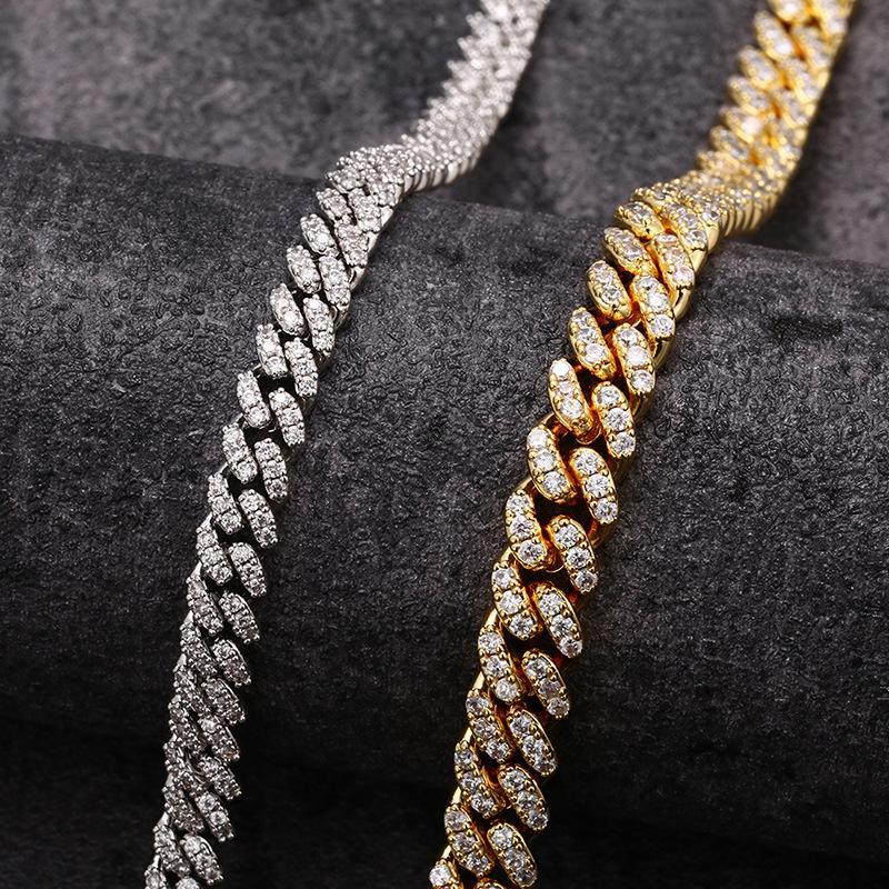 Jewelry New Necklace Hot Pin 6mm Micro Inlaid Zircon Mini Chain High Quality Full Diamond Cuban Chain