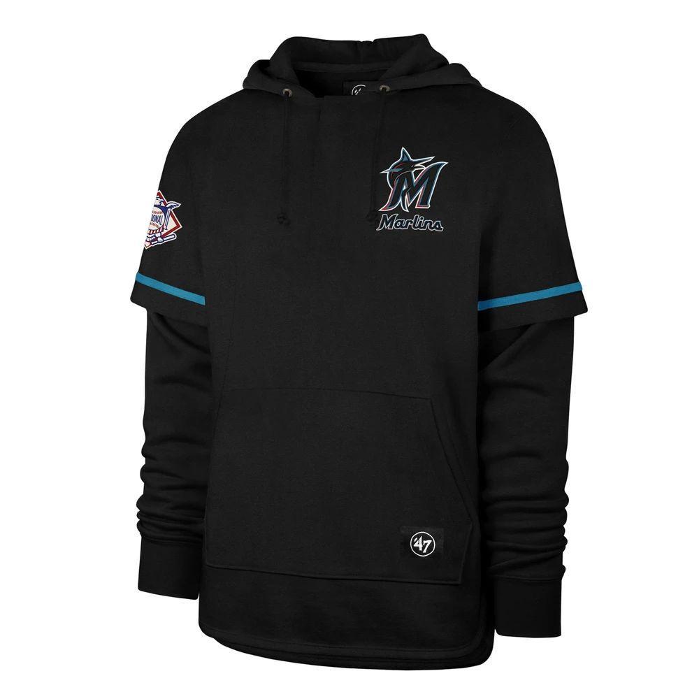 MiamiMarlinsMEN-Sweatshirt-Creme Coopers Heritage Shortstop PulloverHoodie