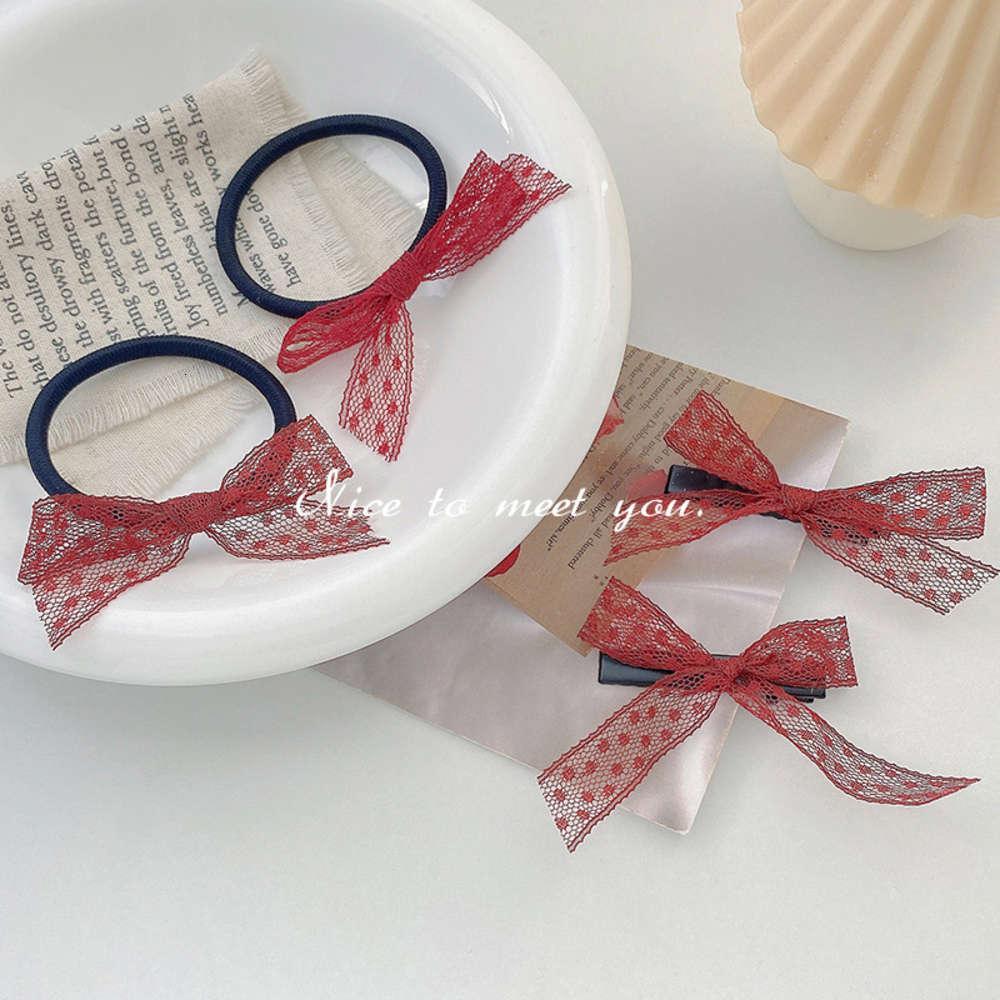 Gaze borboleta nó corda versátil duckbill simples laço coreano cabelo coreano laço de cabeça temperamento temperamento lateral cocar