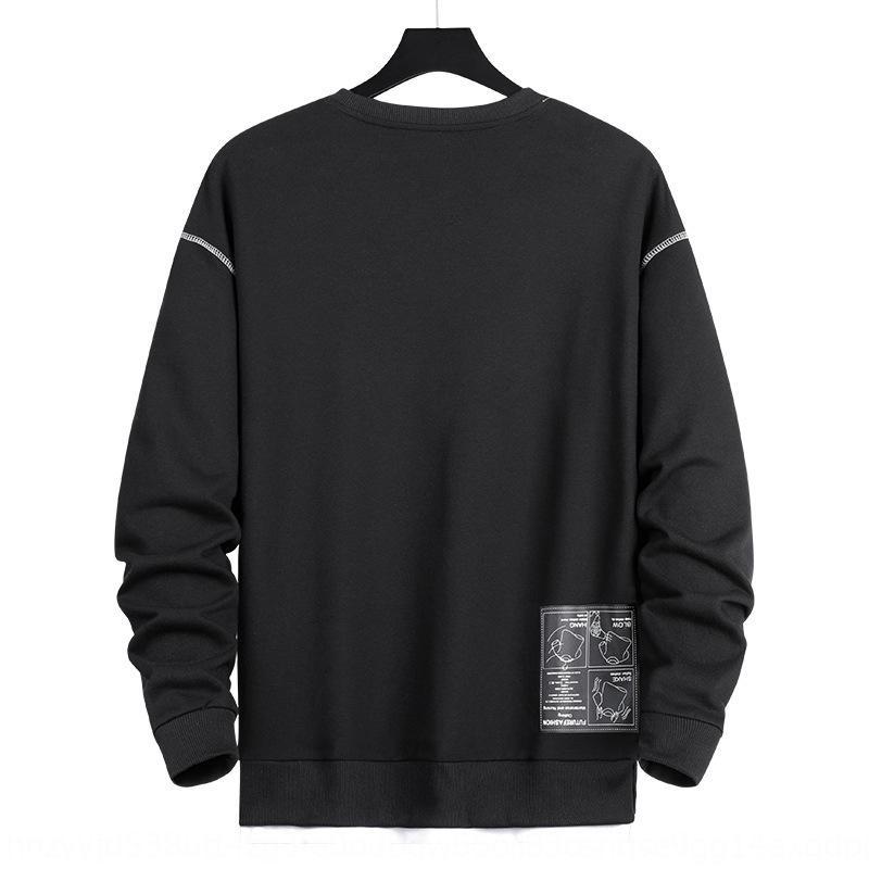 q5K2h hombres suéter plus y el otoño de moda de manga larga suelta y el tamaño de primavera grasa sobrepeso rou desgaste superior impresa de los hombres de Top SweaterCoat suéteres