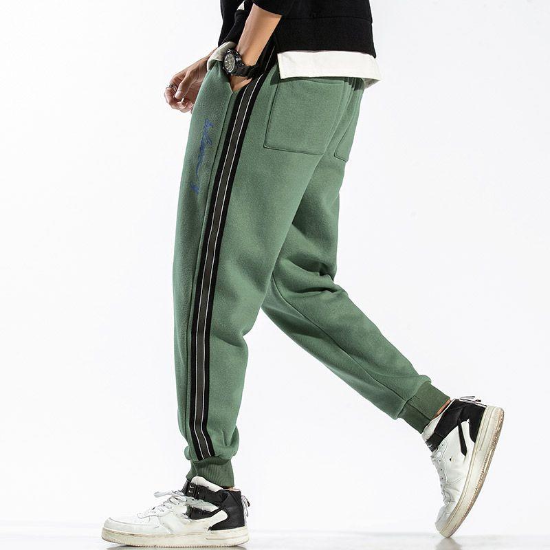L-6XL 95% Cotton Sweatpants Men'S Trousers HIP HOP Black Green Sweat Casual Pants Streetwear Spring AUTUMN 201007