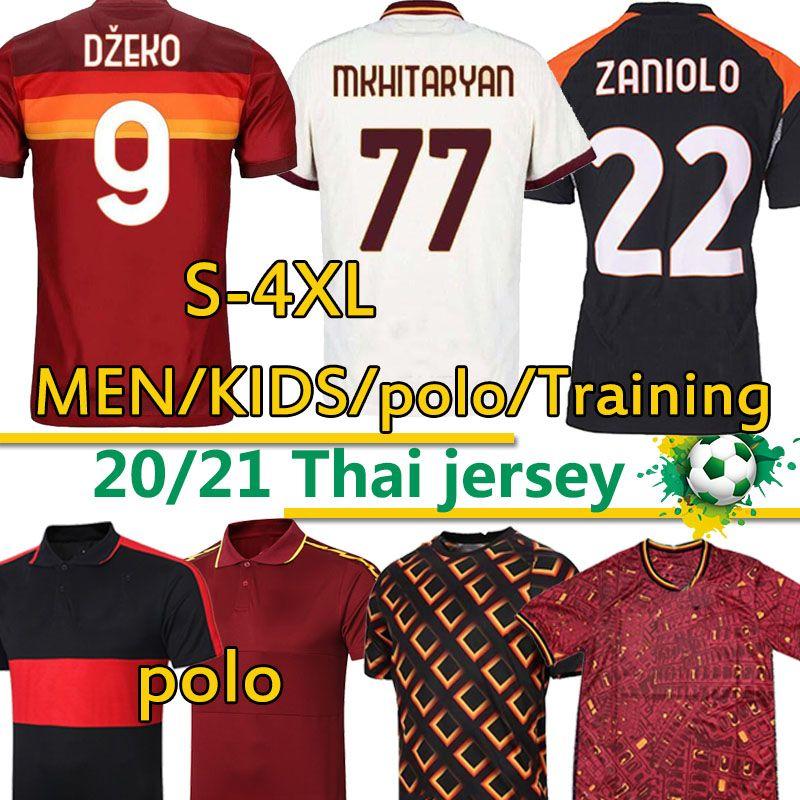 2020 21 Джерси Футбол Джьи Тотти Джеко Заниоло Kluivert Мужчины Женщины Рим Футбольные рубашки Униформа Брюки