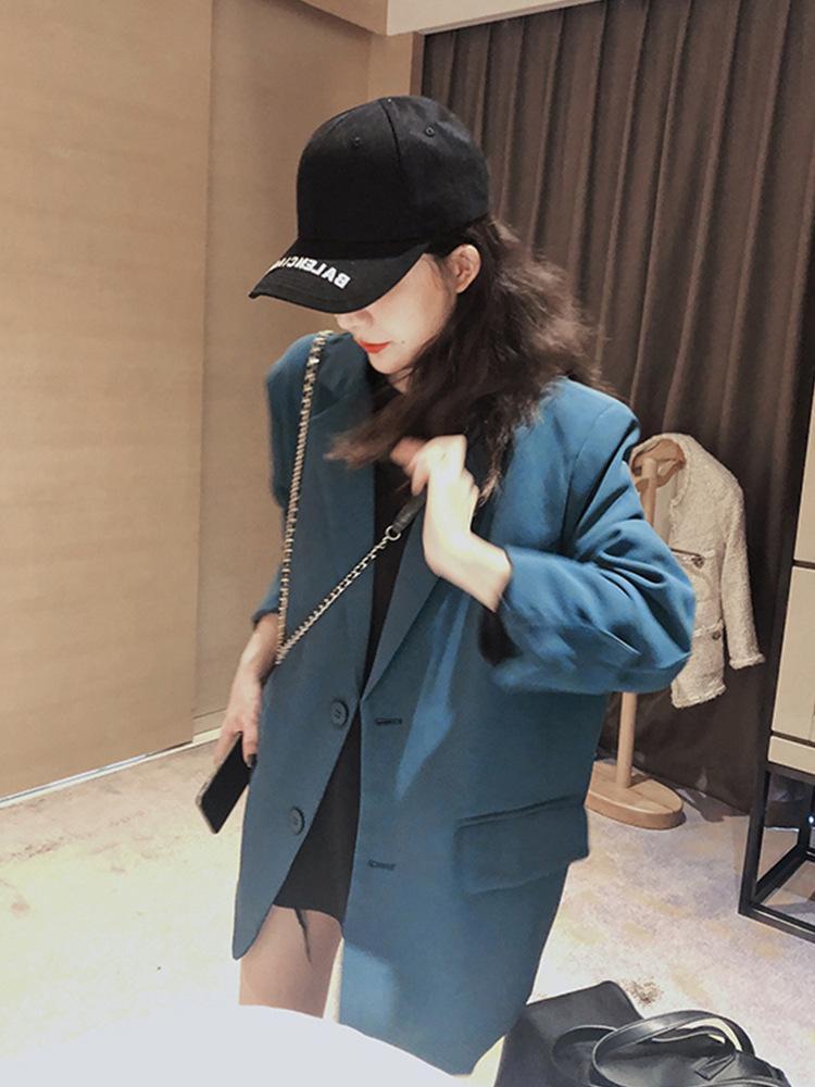 Nuevos Trajes Femeninos Vintage Otoño Cuello con muescas Plaid Mujeres Blazer Brozer Jacket Chaqueta Casual Bolsillos Para Mujeres Trajes de Womens Blazers
