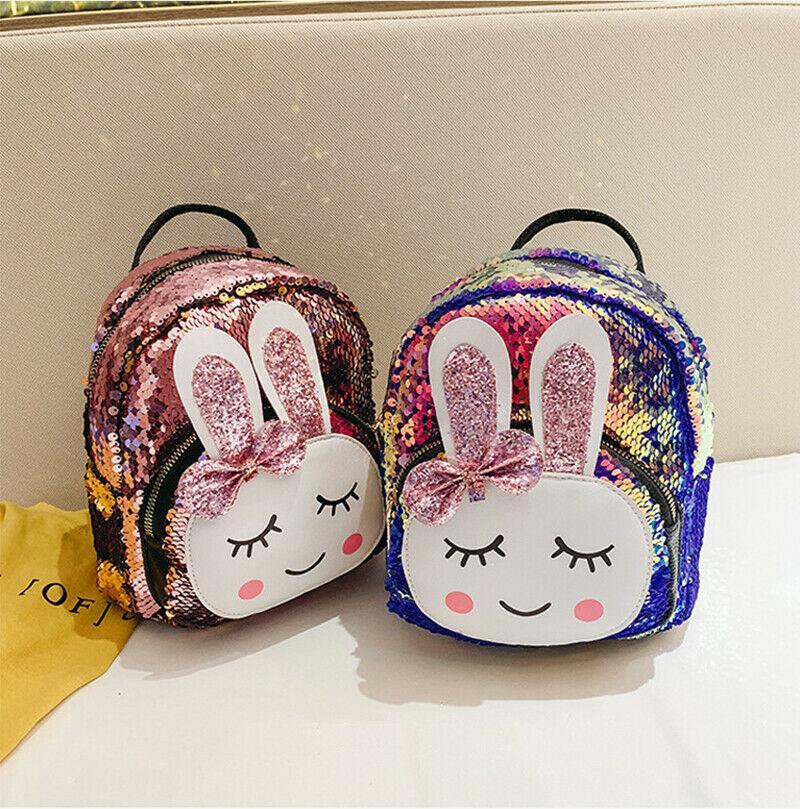 Petite mode enfants mini écoliers enfants nouvel enfant en bas âge de lapin imprimé sac à bandoulière sac à dos sac de sac à dos de sac de girl de girl ivpts