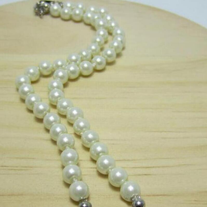 Nueva Boutique Ladies Colgante lleno de diamantes Multicolor Cadena de perlas Cadena de clavícula Cadena de cuello de cuello de amor Accesorios de ropa