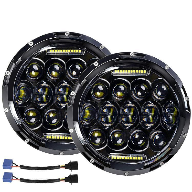 En Yeni Nokta Işın Lambası Evrensel 7 inç Daymaker Projektör Led Far Oto Elektrik Gösterge Fit For Motosiklet Ampüller