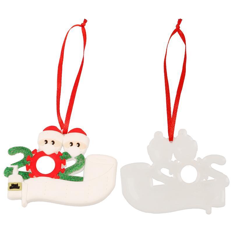 Dekorasyon Kardan adam kolye ile Yüz El Temizleyici DDE2293 Maske Asma 2 3 4 5 6 7 Noel Süs Özelleştirilmiş Hediye Survivor Aile
