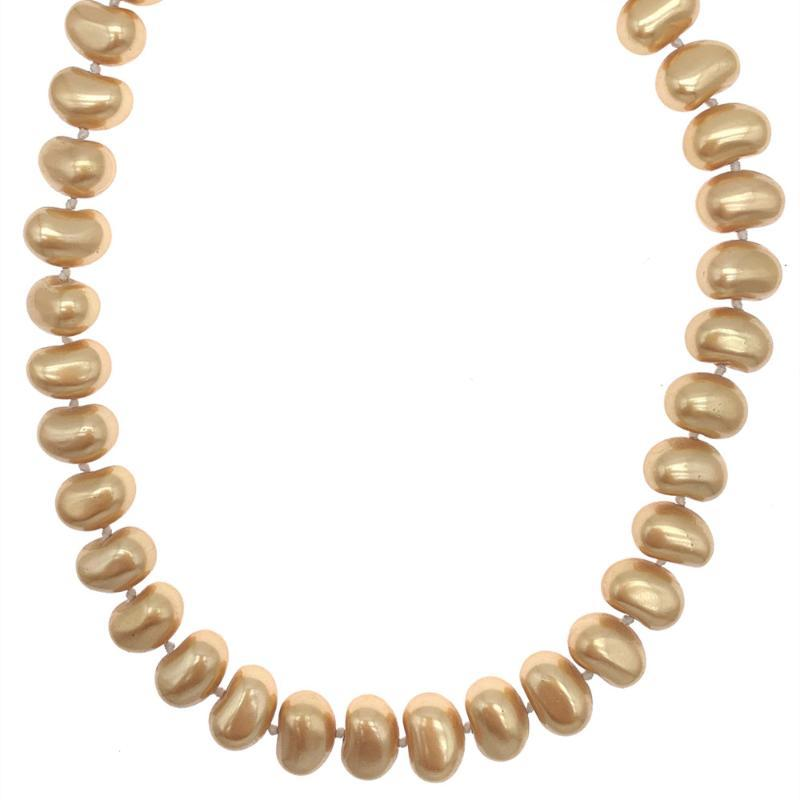 Nugget forme d'or Collier Shell Perle Nacre Tendance Bijoux Pour Femmes Filles Cadeaux 18 pouces
