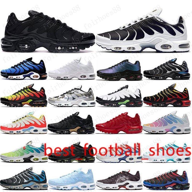 2020 TN Plus para hombre de los zapatos corrientes del Mar Negro Rosa Triple Tensión Rojo Blanco púrpura EE.UU. Lima Limón abejorro ser verdaderos entrenadores deportivos zapatillas de deporte