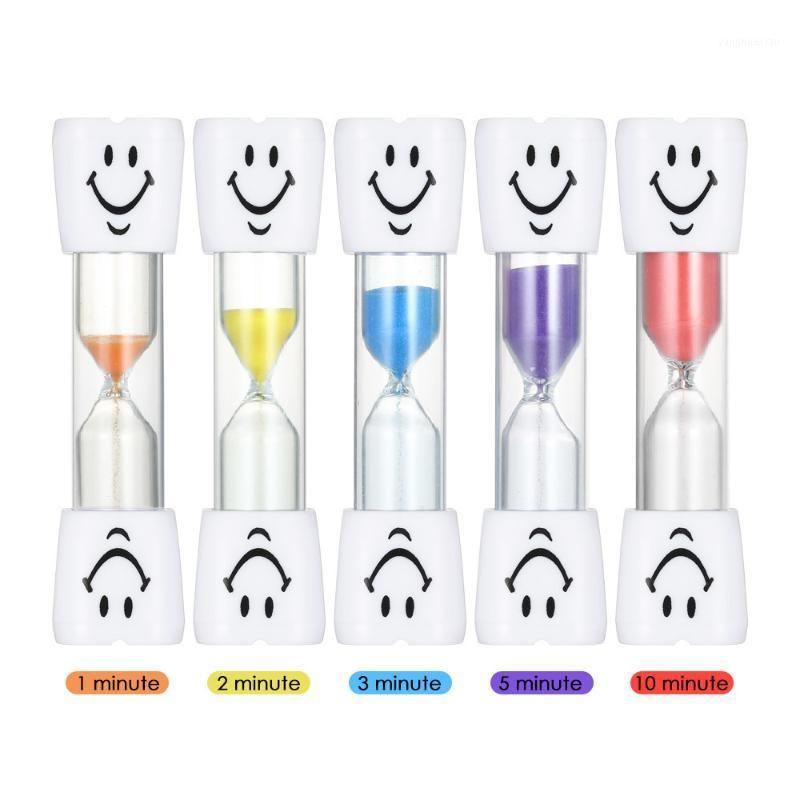 SANDGLASS DE SAMEGRAVES 5PCS 1min / 2mins / 3mins / 5mins / 10mins Mini Mini Cuisson Coloré Horloge Sable Horloge pour dents Enfants Timer1