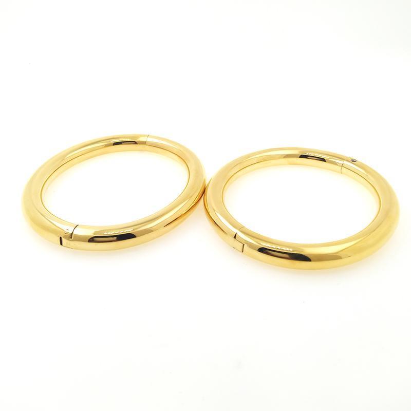 Bangle acechannel poliert gebürstet silber schwarz schwarz 100% edelstahl goldener handgelenk knöchelmanschetten abschlussbare sklavenarmbänder schmuck