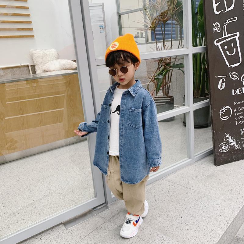 Chaœuo Cottage Vêtements pour enfants Automne 2020 Nouveaux Enfants Casual Casual Top Boys 'Moyen longueur Jacket Veste Fashion