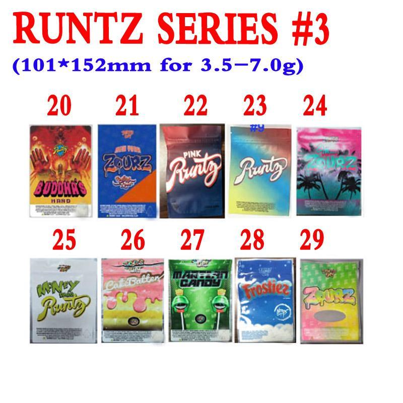 EMPTY BAGS 25 pack FROSTIEZ RUNTZ Jokes Up 3.5g-7g mylar bags packaging