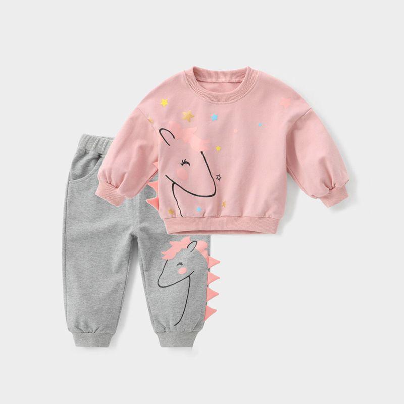 2 stücke Mädchen Anzug Kleidung Sets Herbst Winter Kleinkind Mädchen Kleidung Langarm Hemd Hosen Kinder Kleidung Set Kinder Kleidung 201031