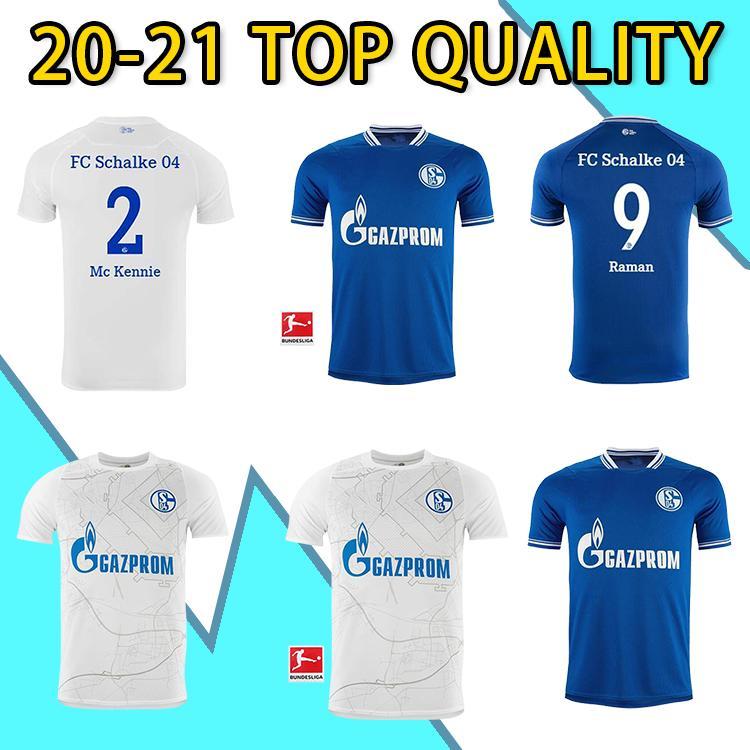 20 21 NUEVO FC Schalke 04 Soccer Jersey Bentaleb 2019 2020 Schalke Caligiuri Camisa de Fútbol Kutucu Burgestaller McKennie Football Shirt