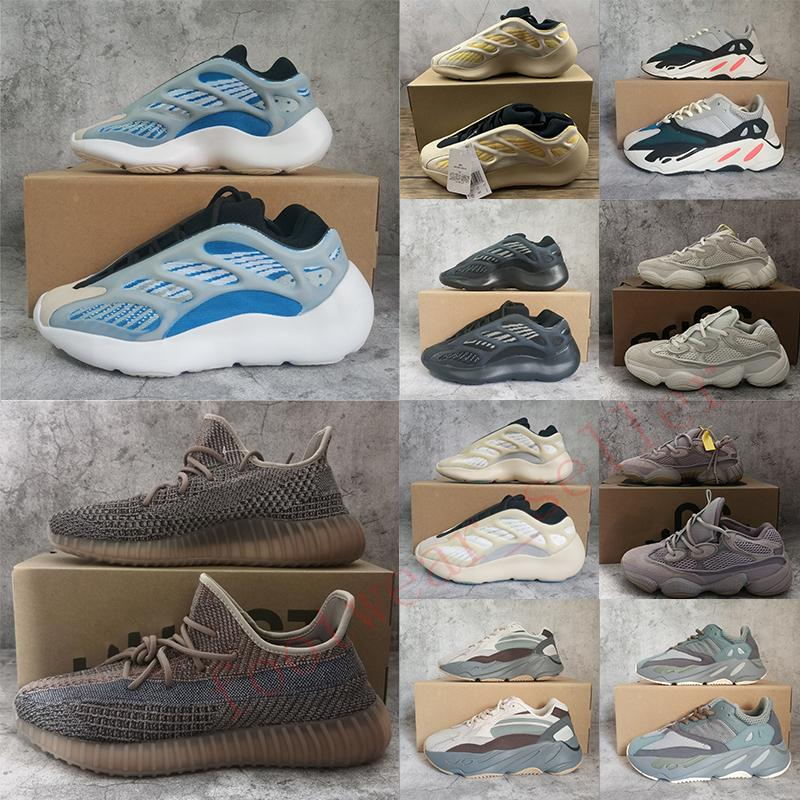 With Box v3 Arzareth Azael Alvah 700 Carbon Static 500 Salt Blush v2 Fade Black Running Shoes Kanye West Mens Trainers Women Sneakers 36-48