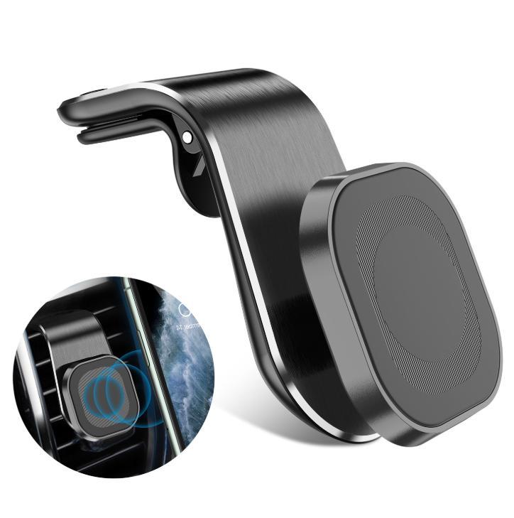 Porte-porte-voiture magnétique portable Titulaire de téléphone portable rotation de téléphone portable à 360 degrés pour téléphone intelligent