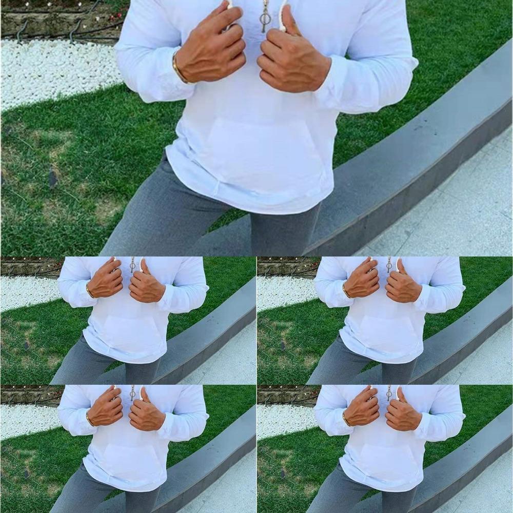 camisola cor sólida alta temperatura algodão fixo masculino novo estilo manga longa de moda pullover cidade pulloversweater pullover solta com capuz co