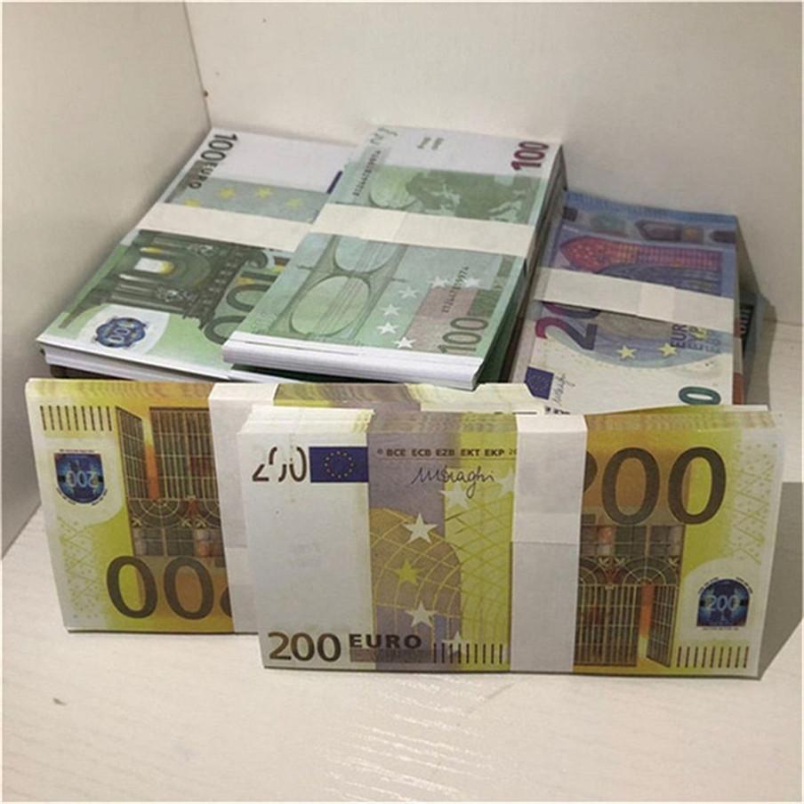 Hohe Qualität Großhandel Nachtclub Bar Atmosphäre Requisiten Geld Faux Billet Euro Gefälschte Film Geld Billet Euro Spiel Geld E49