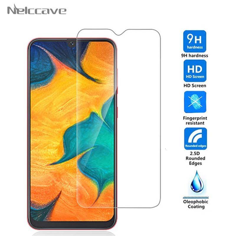 500pcs / lot de 2.5D 9H para Samsung Galaxy Templado Cristal A10 A20 A20 A30 A40 A50 e A60 A70 A80 A90 película protectora