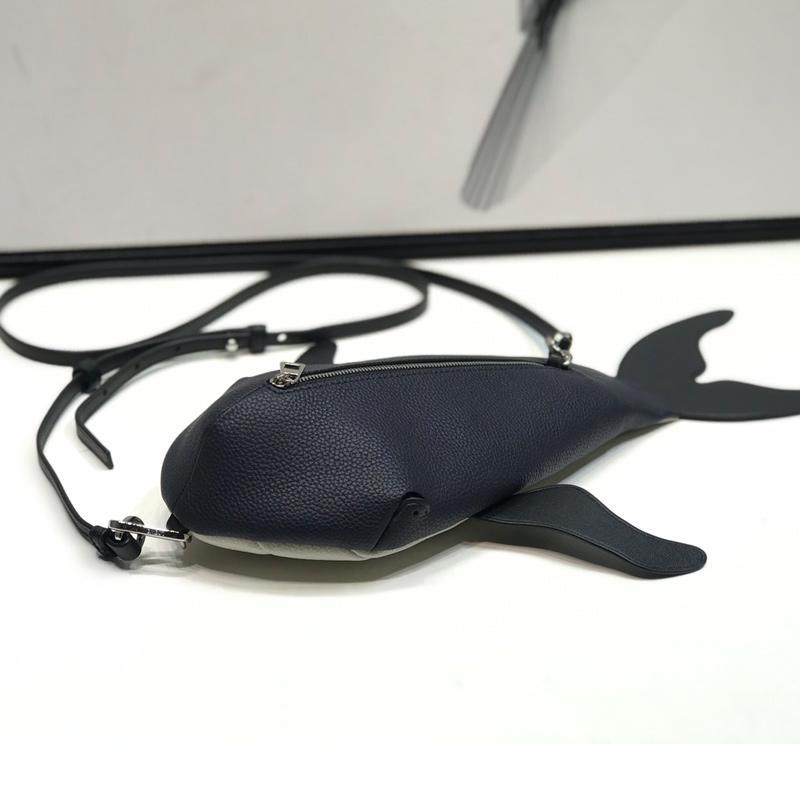 2019 di modo di marca Designer Borse di lusso del progettista di Crossbody Bag Portafoglio di alta qualità New Baby Whale mano della pelle bovina genuina Balestra