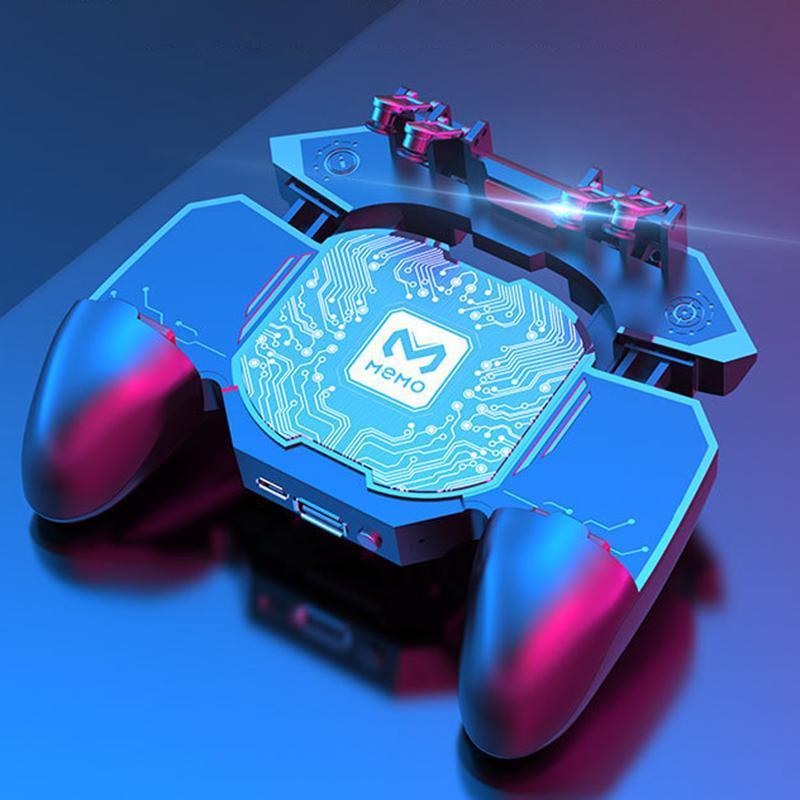 Joystick Gatilho gamepads luxo Telefone Fan cooler Game Controller aperto 6 dedo por PUBG Games Acessórios