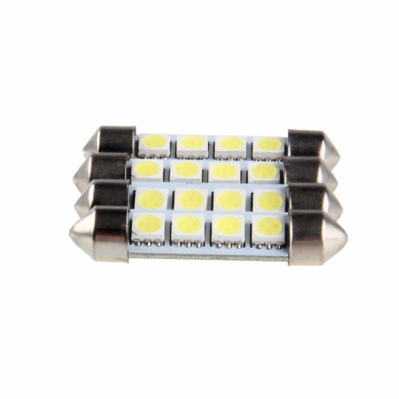 Possbay Atacado 4 pcs 41mm 4 SMD 12V LED festoon cúpula interior lâmpadas de carro estilo estilo LED Waytime Running Lights1