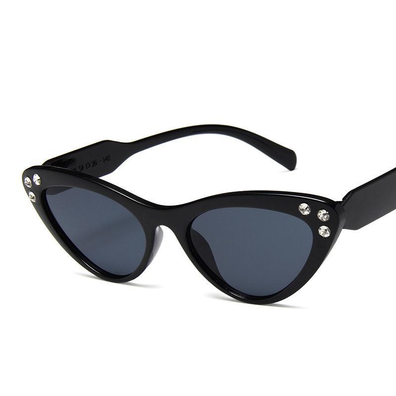 DJXFZLO 2019 NUEVO época pequeñas ojo de gato gafas de sol de las mujeres diseñador de la marca retro boutique de gafas de sol Gafas de UV400