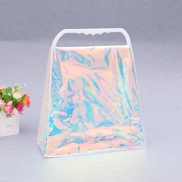 Borsa della spesa del laser del PVC PVC della borsa di plastica trasparente della borsa di plastica variopinta Borsa da imballaggio colorata Moda delle borse delle borse di stoccaggio degli strumenti DDD4041