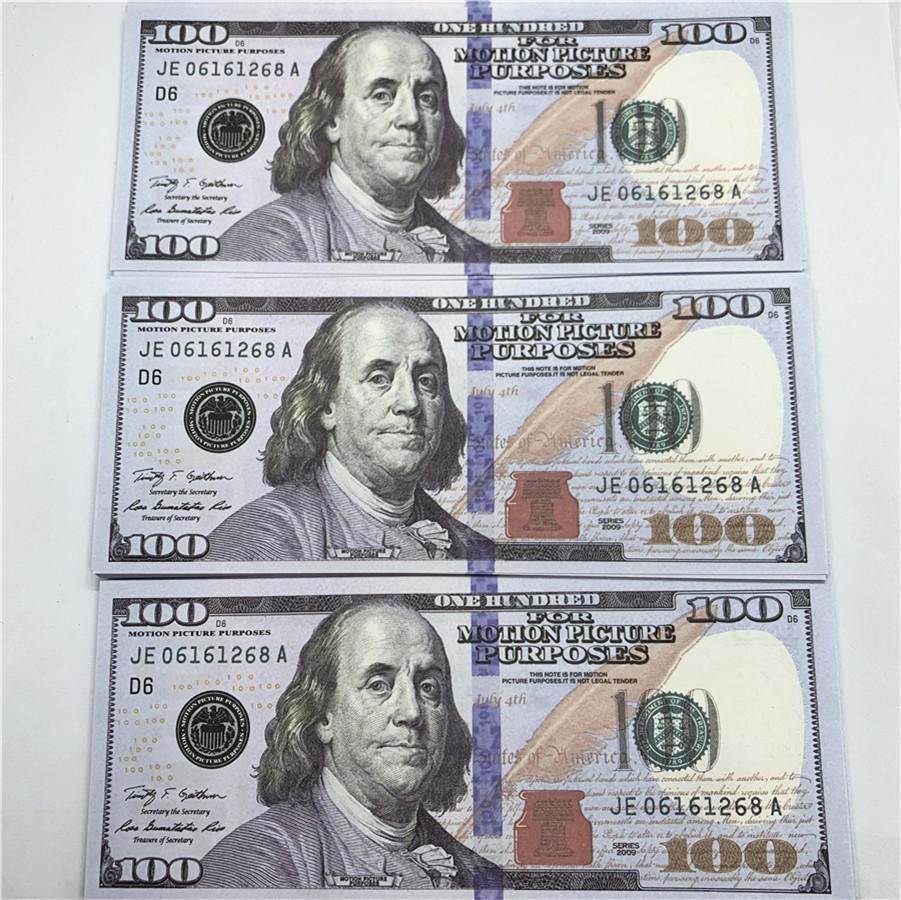 100 stücke / pack neues design 2021 bar party banknoten dollar kopie banknoten großhandel realistisch vorgeben Geldpapier A58