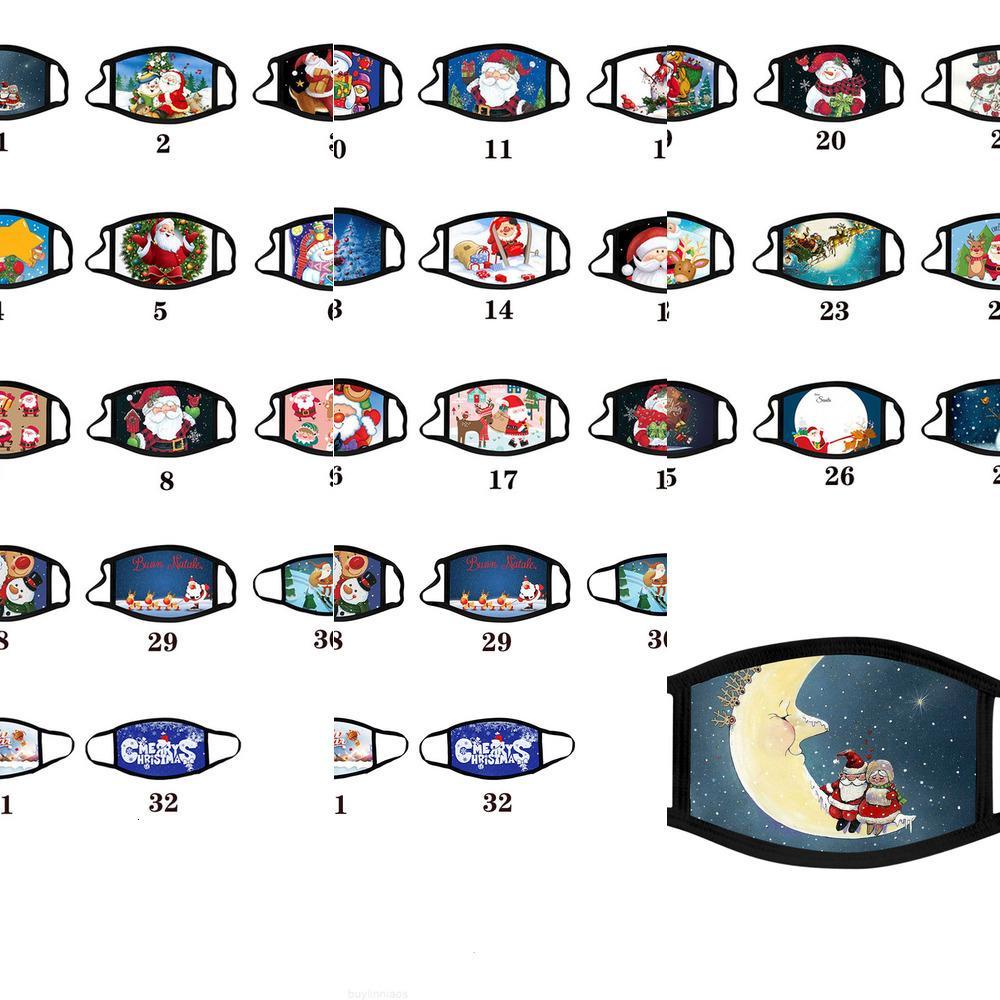 Anti-Fog Masks Dos Desenhos animados Christmas Lavável Algodão Adulto Máscara de Natal Máscara de Máscara de Máscara Máscara Máscara Moda DesiQ0