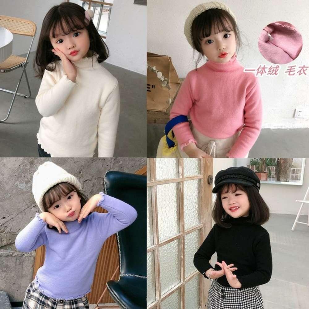 Pequeño 2020 Ropa de invierno Lace para niñas Todo en un suéter de cachemira Camiseta infantil