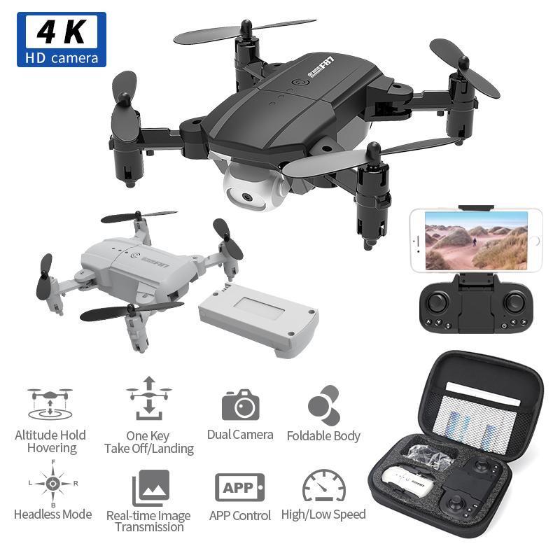 Обновление версии Mini RC Drone 720P / 4K HD Двойная камера WiFi FPV Высота Удерживать Режим Складной RC Quadcopter RTF F87