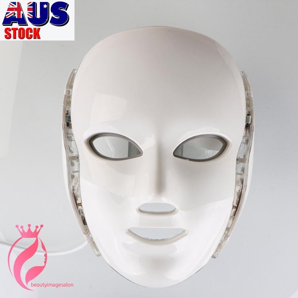 PDT-Lichttherapie-LED-Gesichtsmaske mit 7 Photonenfarben für Gesicht und Hals Hautverjüngung LED-Gesichtsmaske Home Verwendung