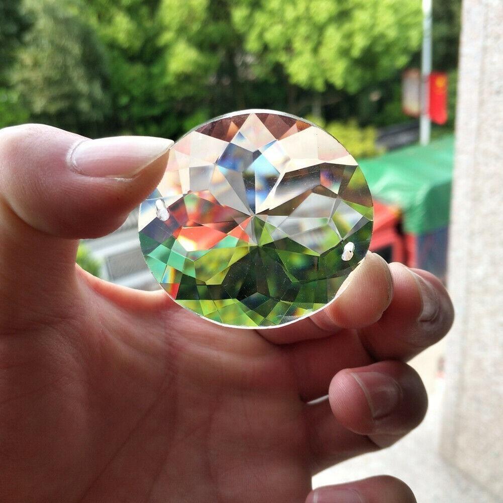 Bling 45mm flor coração arrow Faceted Glass Crystal Chandelier Prism 2holes Pingente Pingente Sunctcher Mobile XMS Tree H Jllvkf