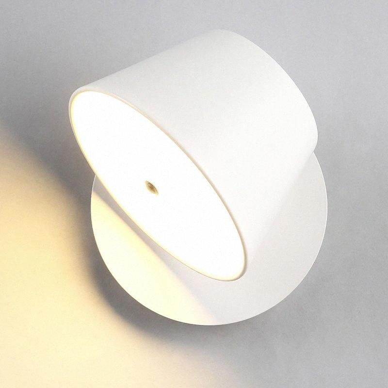 Aluminium drehbare LED Wandleuchte Innenwandleuchte Schlafzimmer Hotel Home LED-Beleuchtungskörper Nachttischlampen 93Bz # Mounted