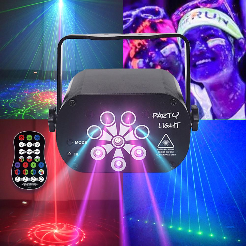 129 Patterns USB Rechargeable Led Laser Projector Lights RGB UV DJ Party Disco Light for Xmas New Year Birthday Wedding Party