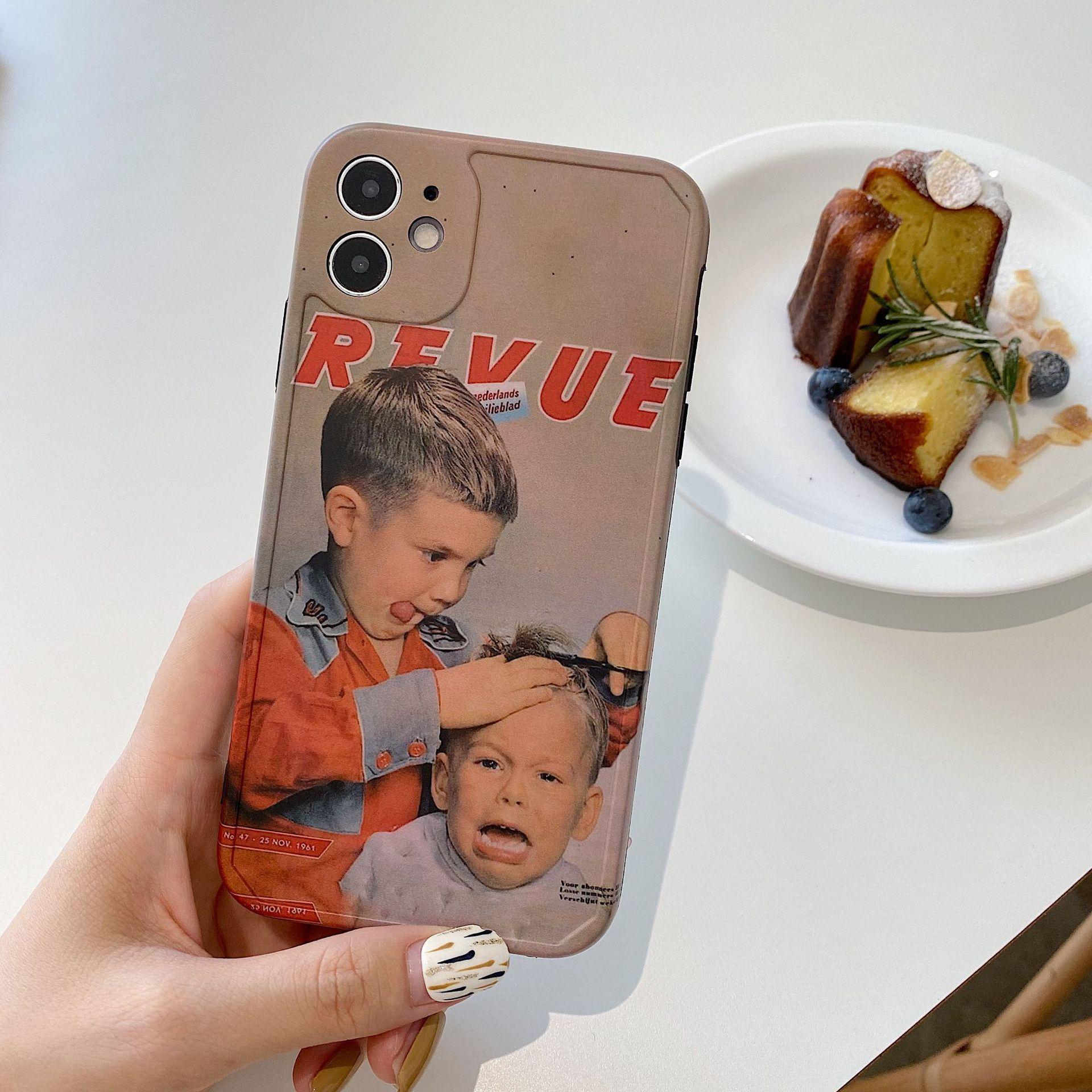 Custodia per celluli carino per iPhone 12 mini 11 pro max x xr xs max se 2020 copertina posteriore divertente custodie morbide del fumetto