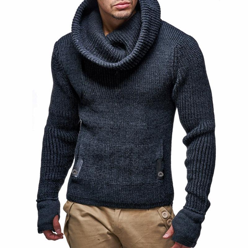 Maglione Casual TurtrleNeck Pullover Uomo Autunno Slim fit manica lunga manica maglione uomo maglioni a maglia cashmere pull homme