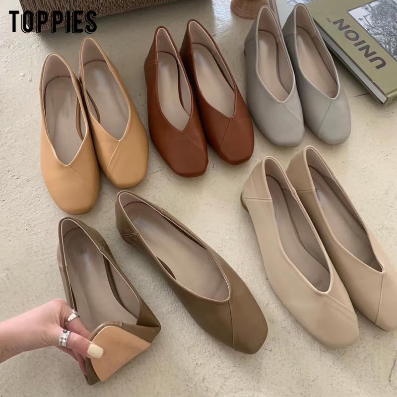 toppies Damen Schuhe Sommer flache Schuhe Frauen Kunstleder elegantes Büro zapatos mujer 201022